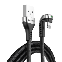 Кабель Baseus Green U-shaped USB - Lightning 2.4A 1м Чёрный