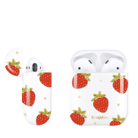 Чехол Kingxbar для Apple Airpods Strawberry