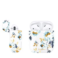 Чехол Kingxbar для Apple Airpods  White peony