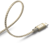 Кабель REQUIRED Braided MFI Lightning to USB Серебро